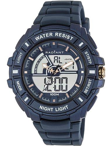 Radiant Reloj Hombre de Digital con Correa en Caucho RA438602: Amazon.es: Relojes