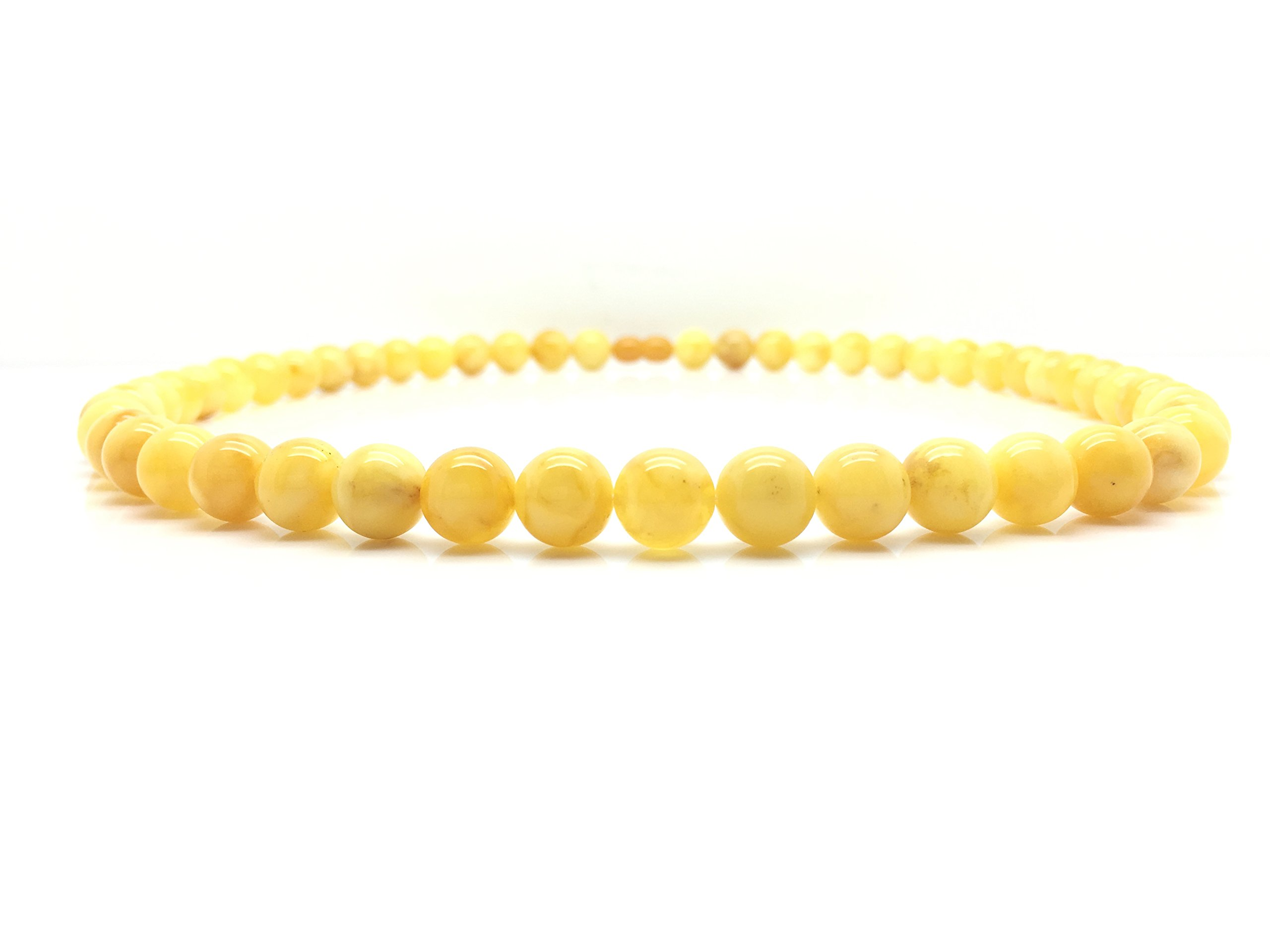 Natural Baltic Amber Necklace Yellow Egg Yolk Colour ±30,6g