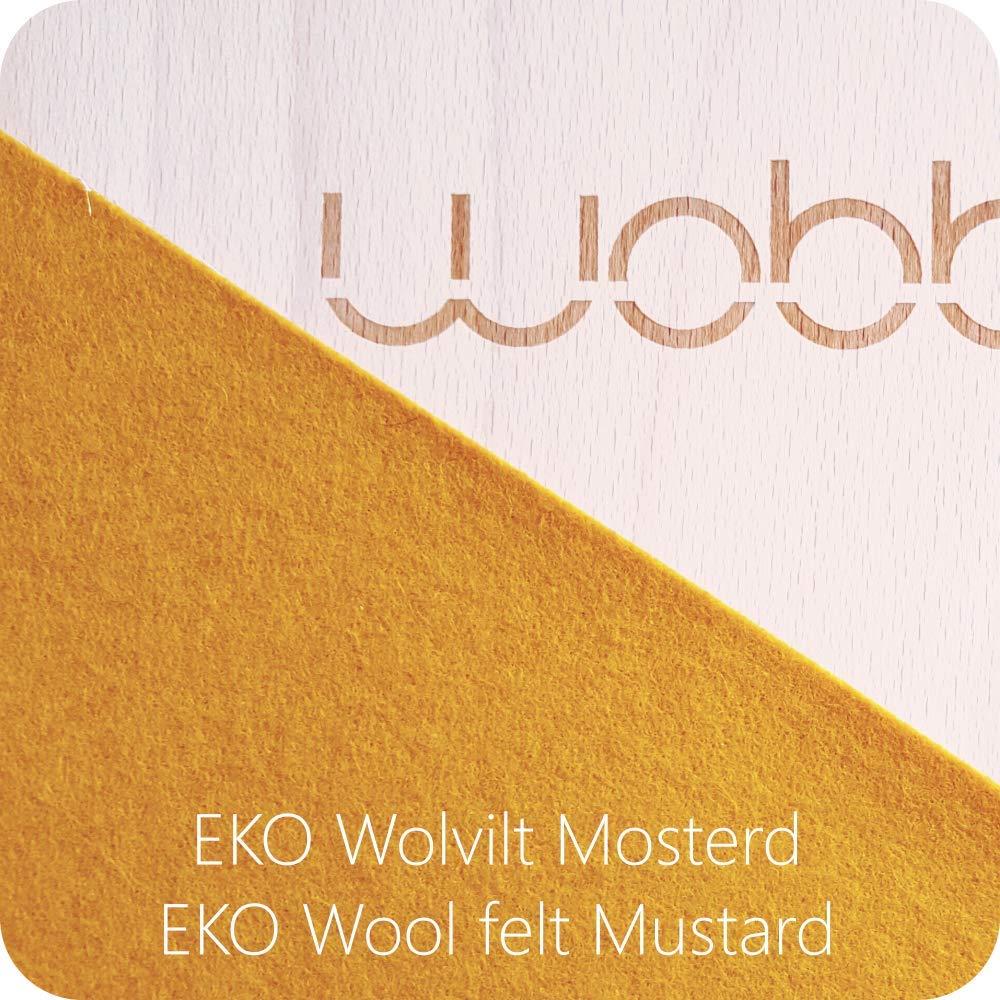 Planche d/équilibre avec feutre jaune en bois Originale WOBBEL