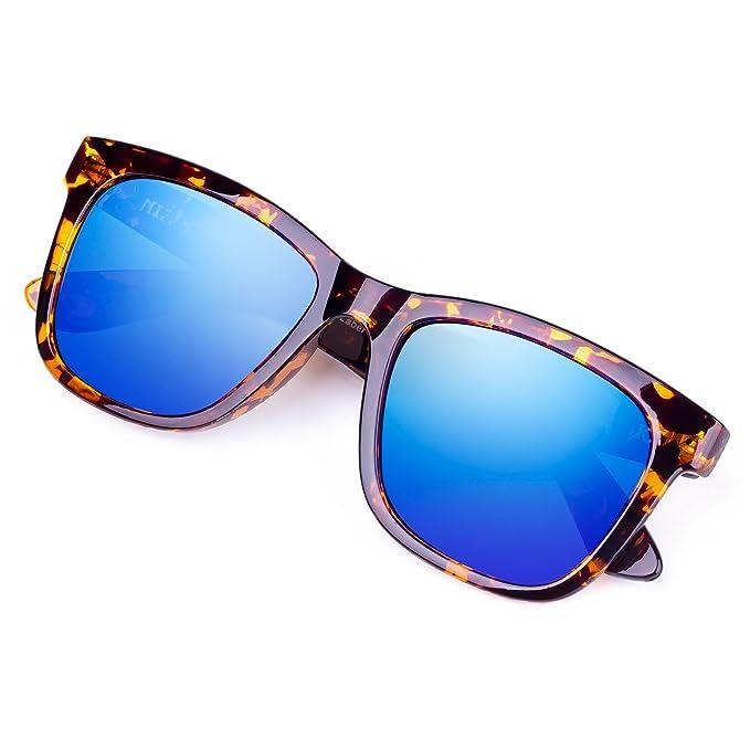 Amazon.com: Gafas de sol clásicas cuadradas con impresión de ...