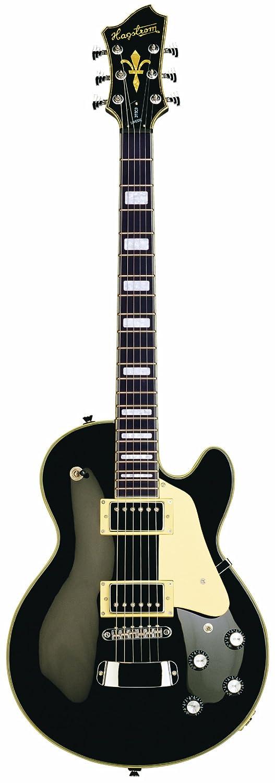 Guitarra eléctrica hagstorm super swede - negra: Amazon.es: Instrumentos musicales