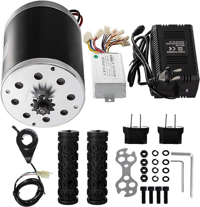500W 24V DC Electric Motor w Reverse Control Box Strong Motivation Brush Motor
