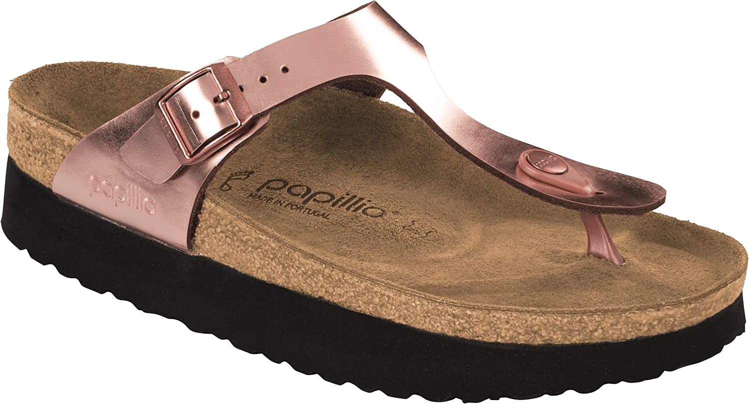 Birkenstock Papillio Women's Gizeh Platform Sandal, Copper Leather,
