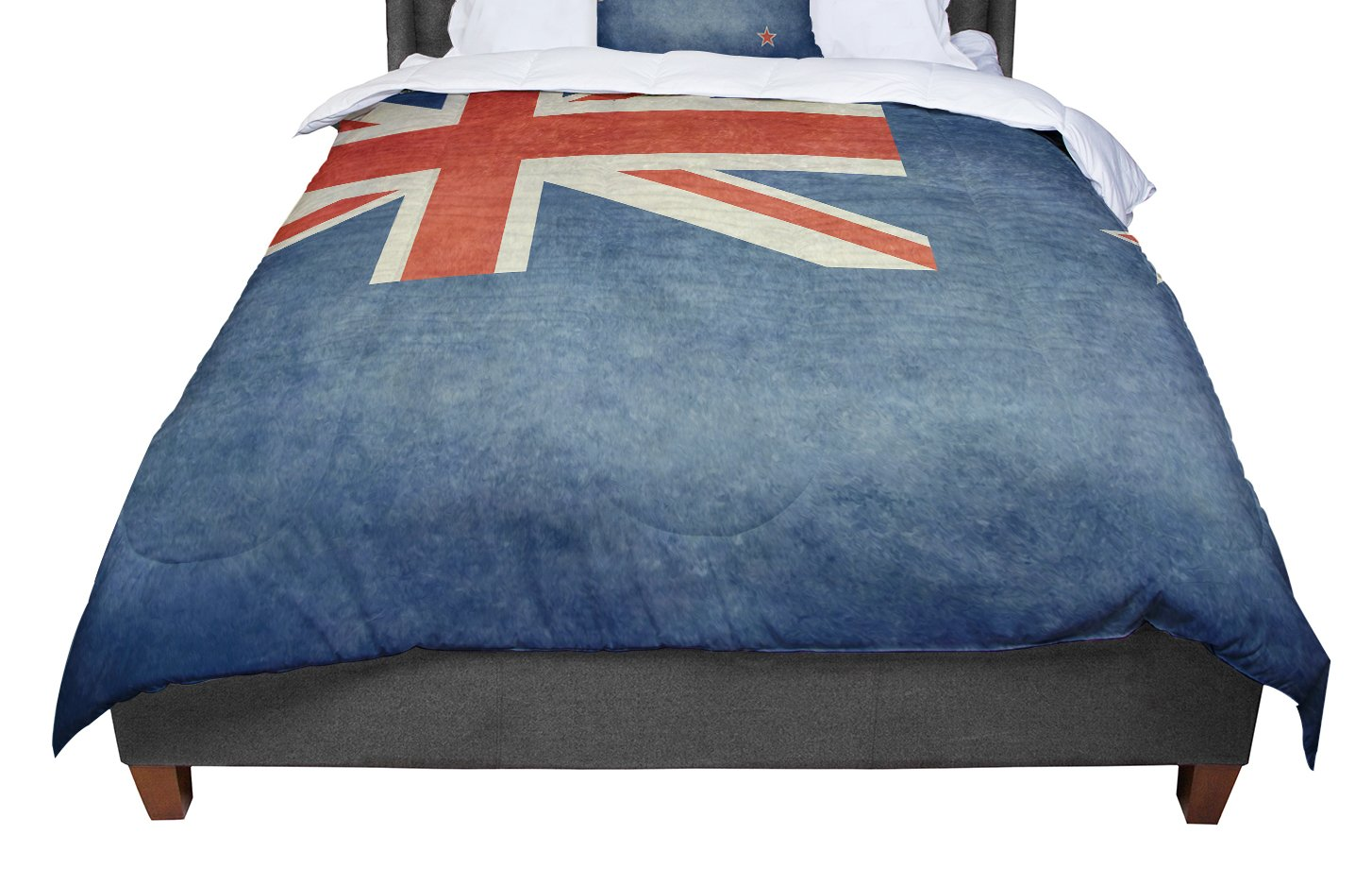 KESS InHouse Bruce Stanfield Flag of New Zealand Blue Twin Comforter 68 X 88