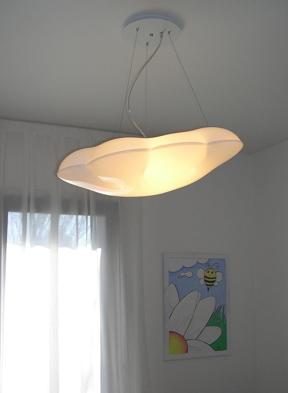 NUVOLA SOSPENSIONE - LAMPADARIO PER CAMERA CAMERETTA LAMPADE A LED ...