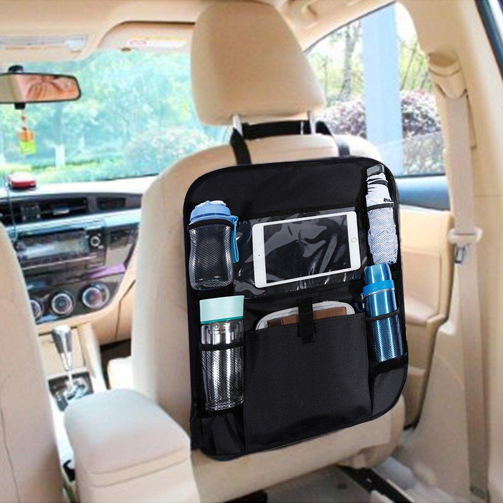 TYPE S CAR HEADREST BACK SEAT ORGANISER TIDY FOR DRINKS CDs UMBRELLA TABLET ETC