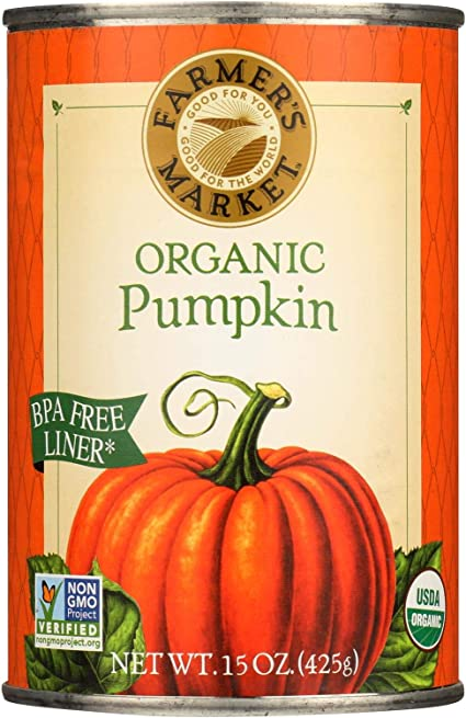Amazon Com Farmer S Market Organic Pumpkin Canned Case Of 12