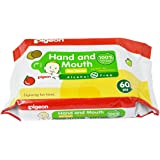 Pigeon Hand and Mouth Wipes 60s - 2 in 1