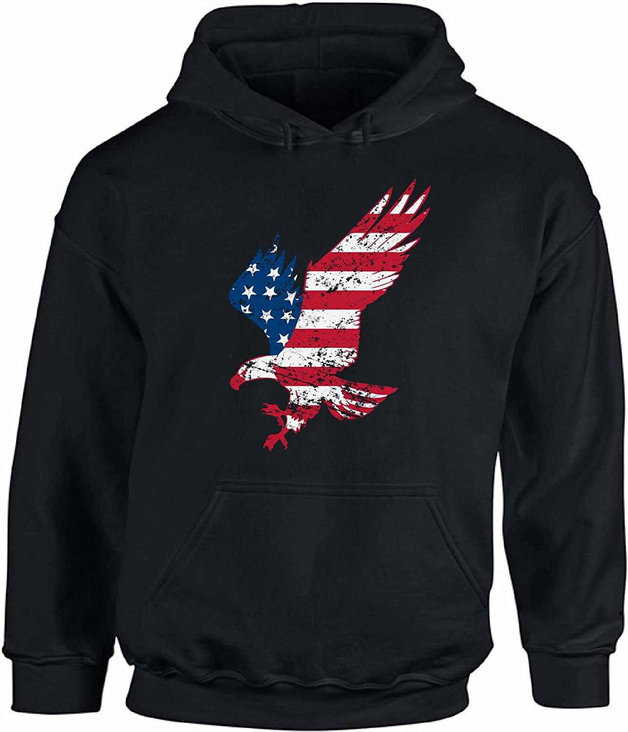 Awkward Styles Unisex USA Flag Eagle Patriotic Hoodie Hooded Sweatshirt Independence Day Gift 4th of July