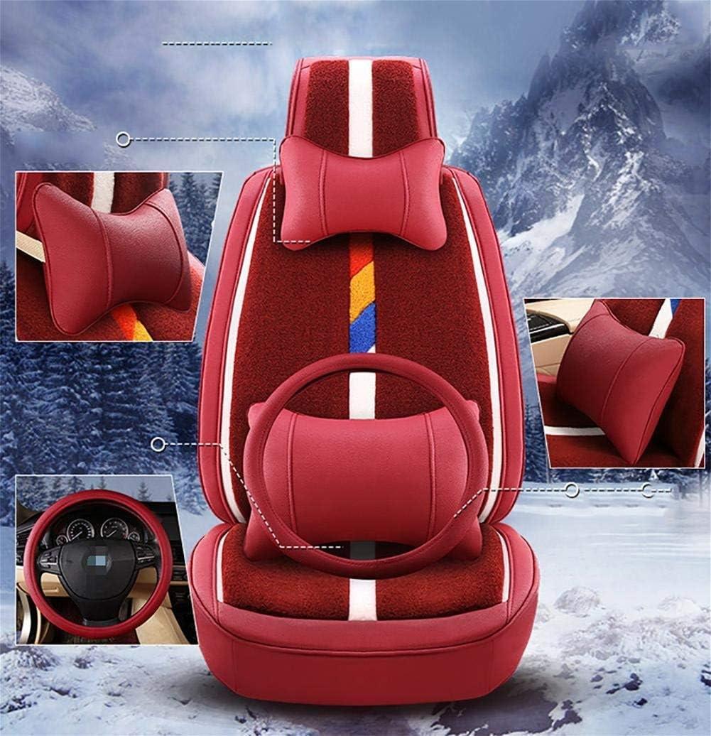 カーカーシートプロテクター用シートカバー カーアクセサリーハイグレードシートカバースタンダードエディション(7セット)とデラックスエディション(12セット)カーユニバーサルプラッシュ4シーズン4色オプション カーシートクッションカーシートマット (色 : #30)