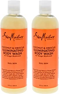 product image for Shea Moisture Coconut & Hibiscus Shea Butter Wash Brightening & Toning Pack Of 2, 13 Oz