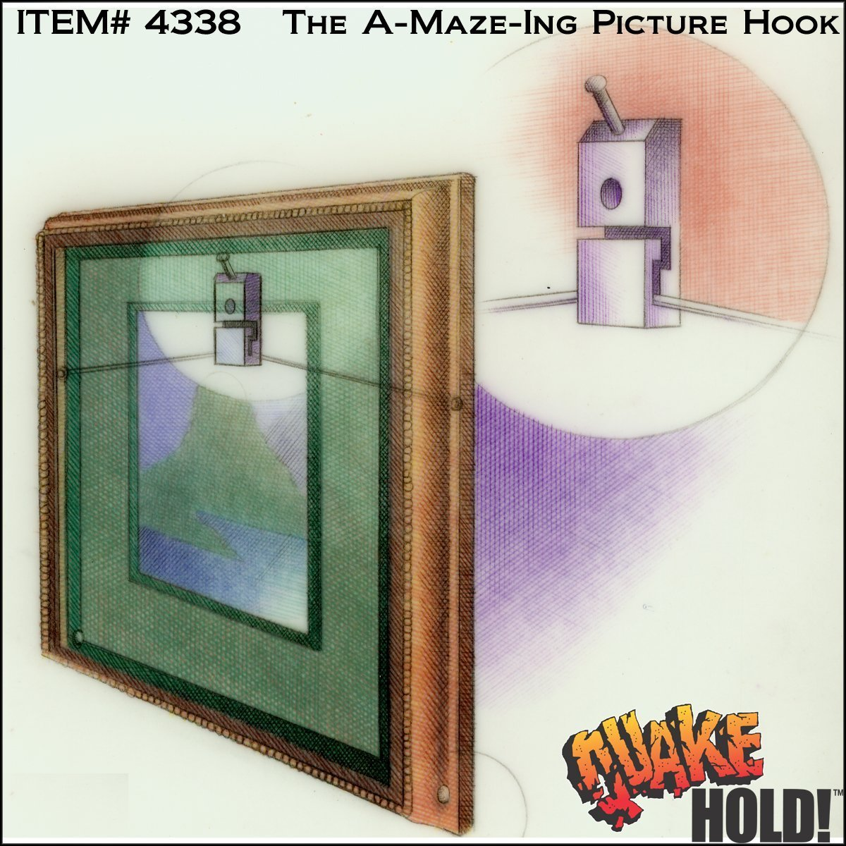 Quakehold! 4338 the A-Maze-ing Picture Hook (2-Pack) by Quakehold! (Image #1)