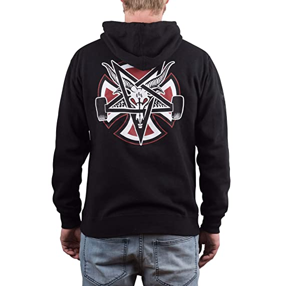 Independent X Thrasher Pentagram Cross Hood Black  Independent   Amazon.co.uk  Clothing 5edd19bb455e