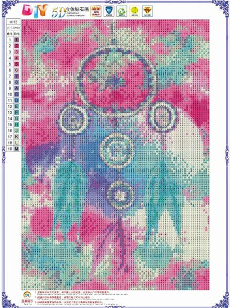 DIY 5D Diamond Painting by Number Kits Dream Catcher Series Dreamcatcher 02 Full Drill Crystal Rhinestone Embroidery Pictures Arts Craft for Home Wall Decor Gift