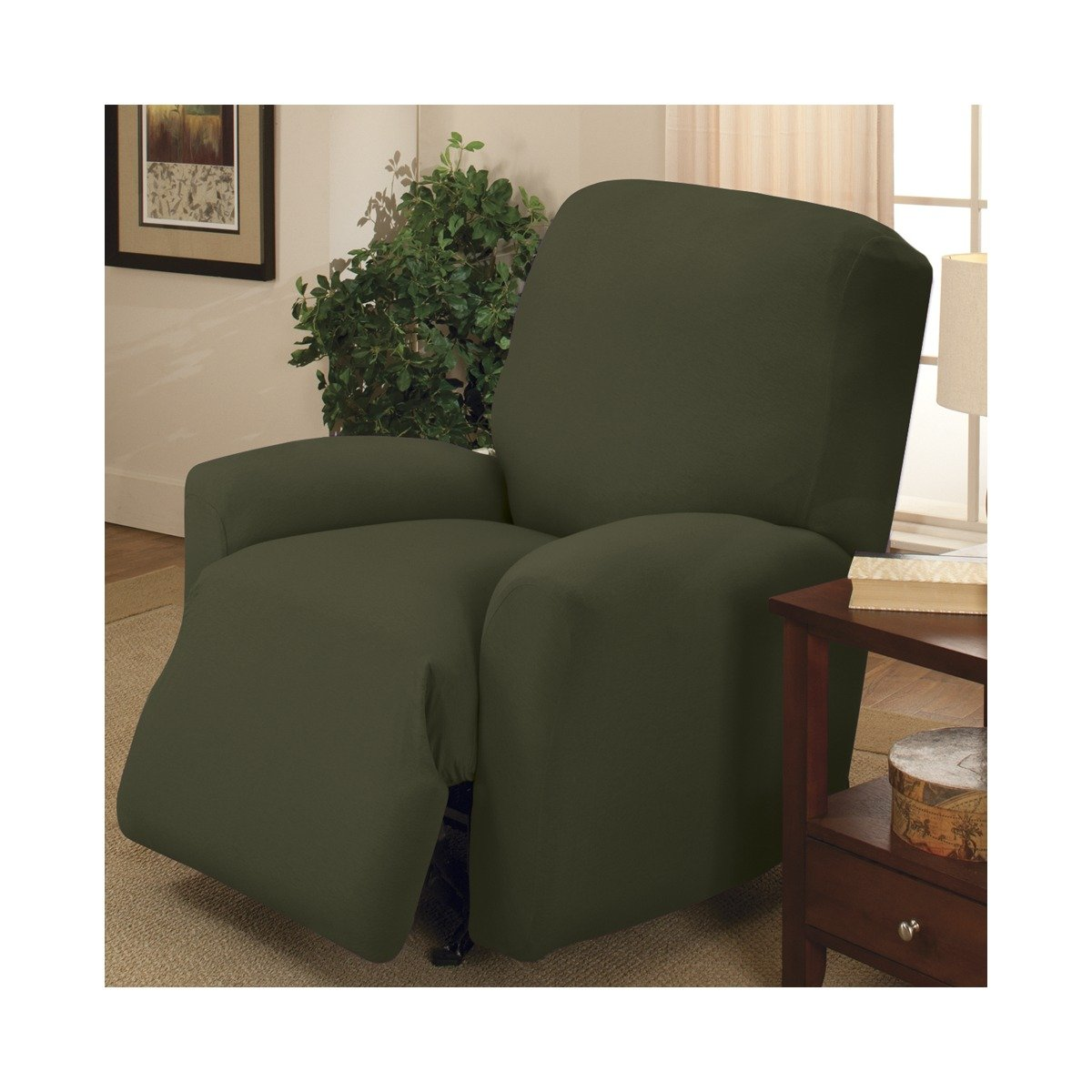 Amazon.com Stretch Jersey Large Recliner Slipcover Color Forest Home u0026 Kitchen  sc 1 st  Amazon.com & Amazon.com: Stretch Jersey Large Recliner Slipcover Color: Forest ... islam-shia.org