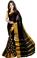 Women's cotton Silk Saree With Blouse Piece (GoliVariation)