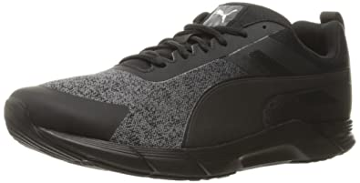 PUMA Men's Propel Heather Cross-Trainer Shoe, Black Silver, ...