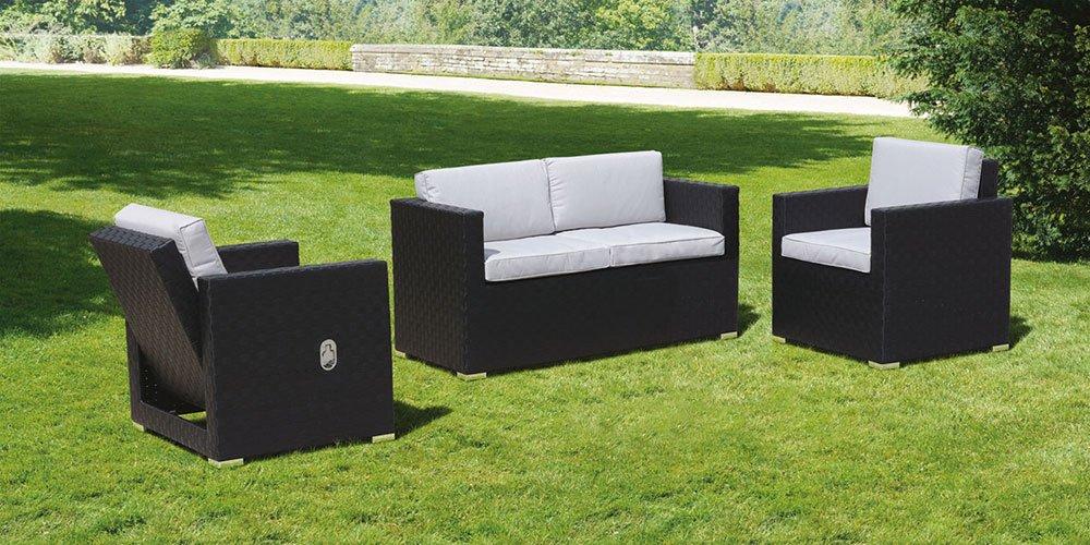 MY-Furniture CUBO Lounge Set in Schwarz und Taupe