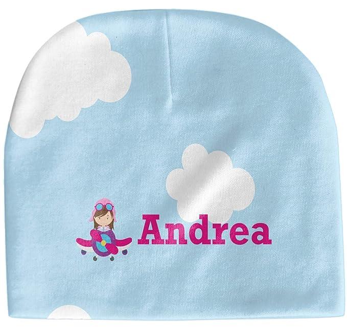 7cfee839391 Amazon.com  Airplane   Girl Pilot Baby Hat (Beanie) (Personalized ...