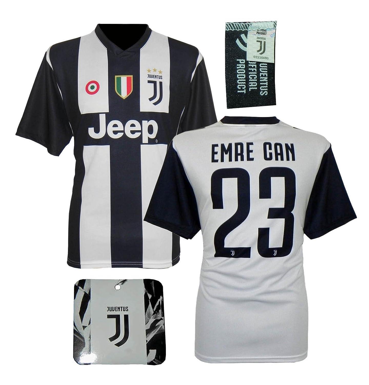 Juventus Maglia Emre Can 23 Replica Autorizzata 2018-2019 Bambino (Taglie-Anni 2 4 6 8 10 12) Adulto (S M L XL)