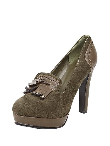 8f842fb9b144 Cobblerz Ladies Leather Dark Green HEELS  Buy Online at Low Prices ...