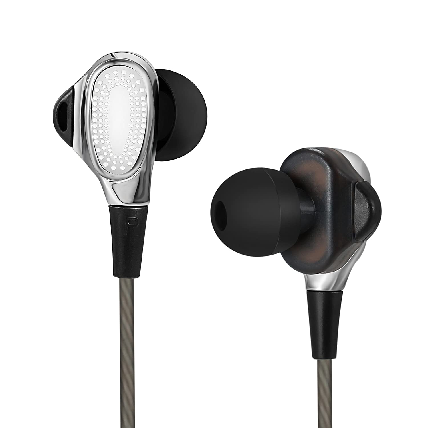 In-Ear Earbuds Headphones, Dual Dynamic Drivers Earphones , Headset with High-fidelity Audio and Deep Bass, Noise Reduction Volume, In line Controls for Hands-free Calling (3.5mm Jack)