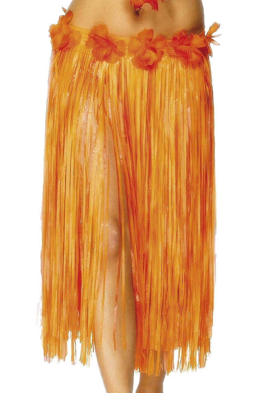 Smiffys-28970 Falda de Paja Hawaiana, con Flores y Cierre con ...