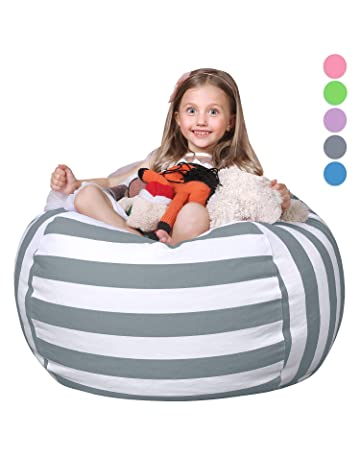 WEKAPO Stuffed Animal Storage Bean Bag Chair for Kids  b317856bbdb17