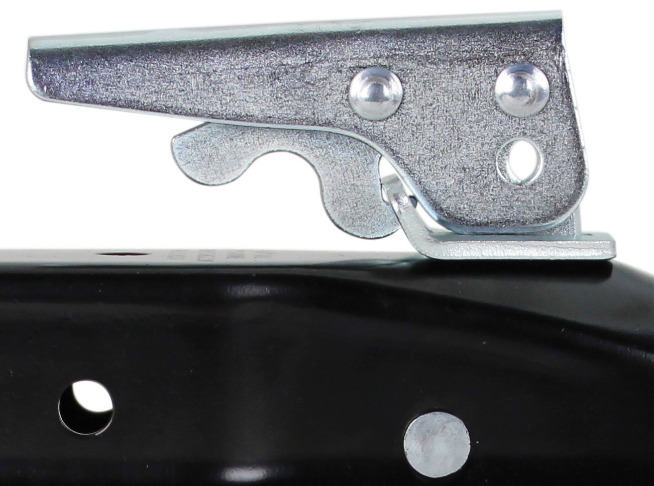 2,000 lbs. Quick Products QP-HS3020 Black Trigger-Style Trailer Coupler 1-7//8 Ball 2 Channel