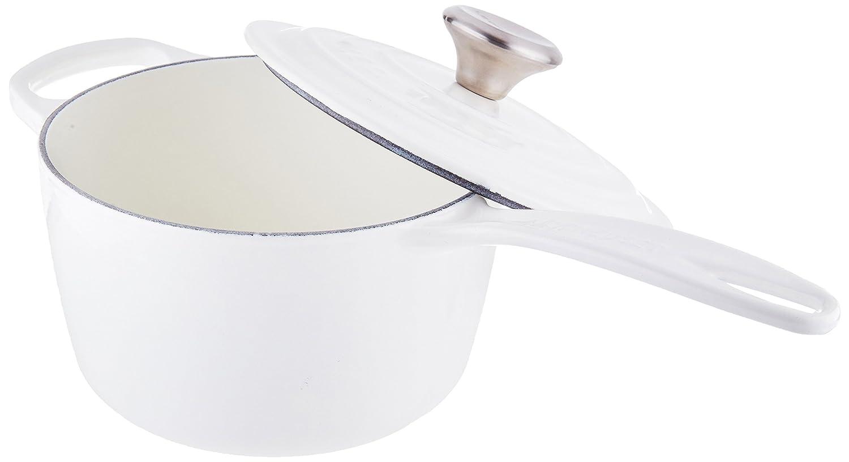Le Creuset Signature Cast Iron Saucepan, 1-3/4-Quart, White
