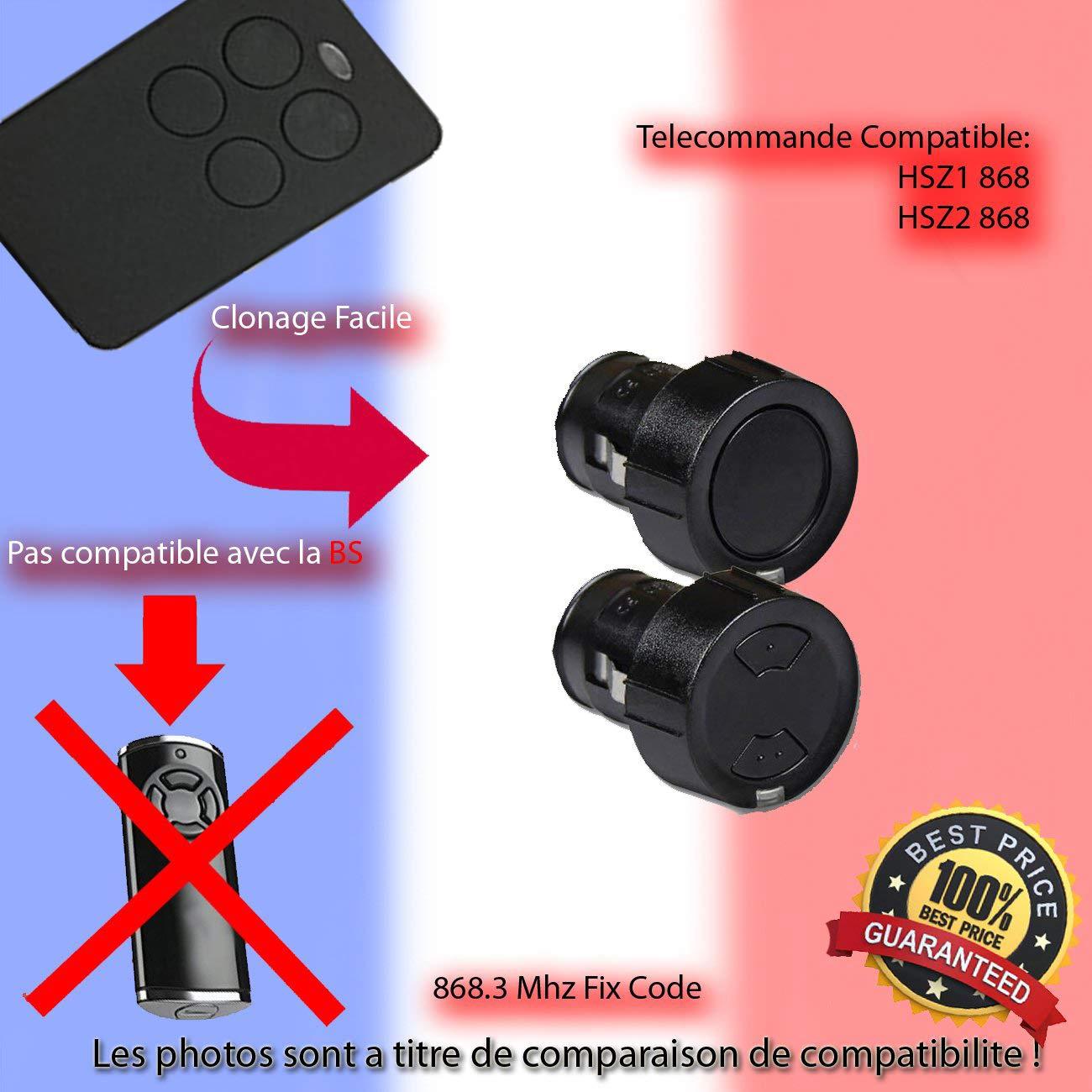 HSD2-C 868 Telecommande de Remplacement Compatible avec HSD2-A 868 Clone