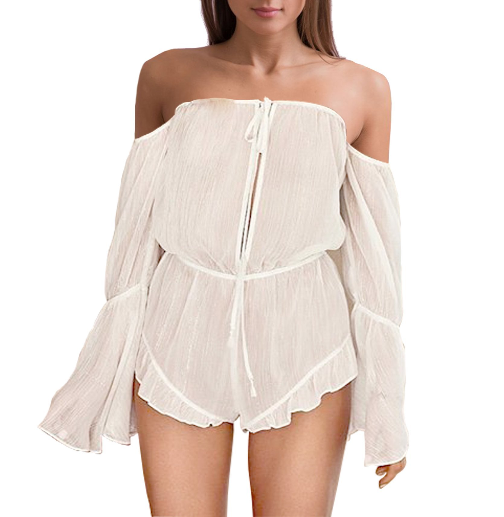 Victorias Secret Shimmer Romper Cover-up White Silver Size XSmall