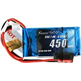 Gens ace 7.4V 450mAh 2S LiPo Battery Pack 25C with JST Plug for RC Heli 250 Helicopter and Small Airplane