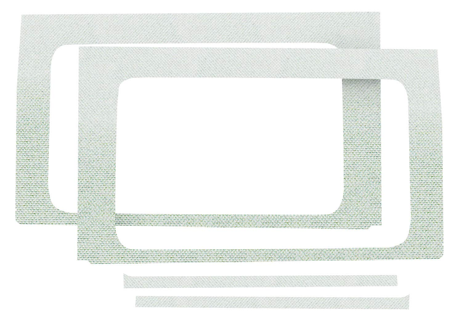 Design Engineering 050149 Boom Mat Black 4-Door Jeep Wrangler JK 2011-2018 Sound Deadening Side Window Trim Kit
