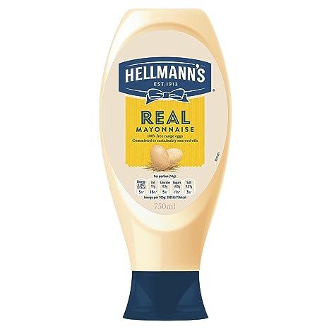 Hellmann\'s Real Mayonnaise Squeezy 750ml - Amerikas Nr. 1 Mayonnaise ...