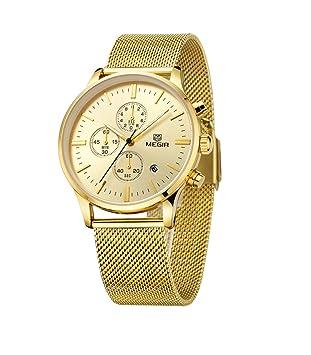 Los relojes delgados de los hombres del oro de la venda del acoplamiento del acero inoxidable ...