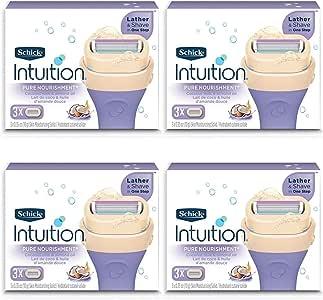 NEW Schick 100% Genuine Intuition Pure Nourishment Razor Refill Coconut milk and almond oil.