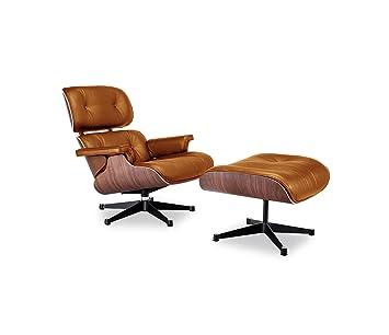Replica Eames Lounge Chair And Ottoman Cigar Brown Amazon Ca Home