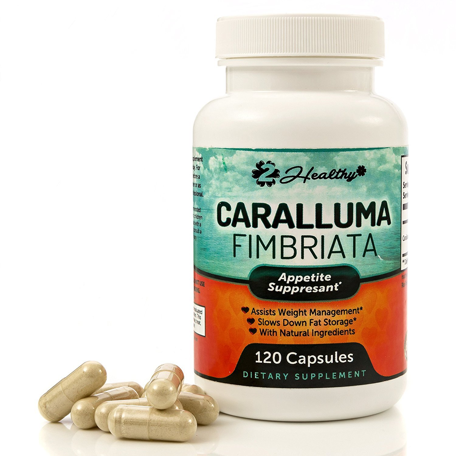 Pure Caralluma Fimbriata Extract 1200mg (120 Capsules) - Weight Loss Management Supplement & Keto Diet Pills, Natural Appetite Suppressant Support for Women & Men