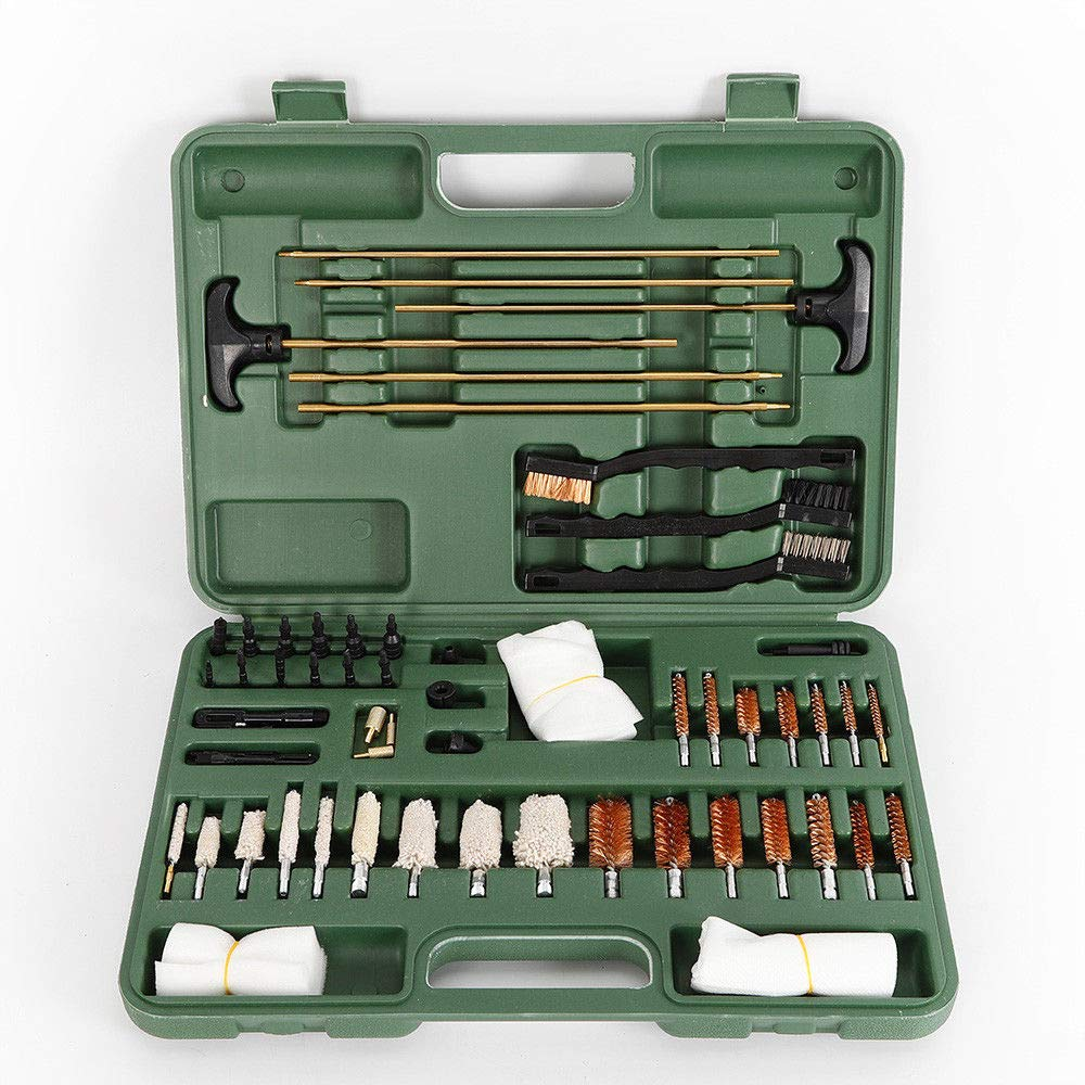BOYU-SHITAI 62pcs/Set Gun & Pipe Cleaning Kit Universal Firearm Brass Rods Bronze Brushes Rifle Pistol Brush and Pipe Cleaning Tools Handgun Shot Gun Cleaning Kit by BOYU-SHITAI