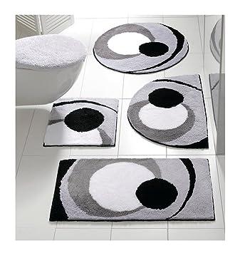 Badteppich Round Xxl In Modernem Design In Grau Amazon De Kuche