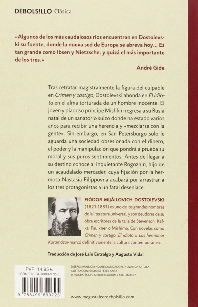 El idiota / The Idiot (Spanish Edition): Fyodor Dostoyevsky ...