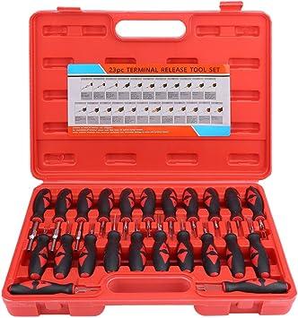 23 tlg Universal Auto Entriegelungswerkzeug Kabelverbinder Auspinwerkzeug L/ösewerkzeug f/ür KFZ