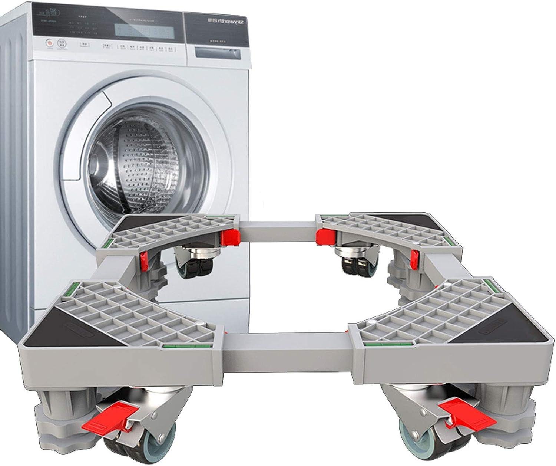 LXYYSG Base Soporte Móvil de Lavadora, Ajustable Soporte Refrigerador Secadora Base, Base Universal para Hogar, Restaurante, Máquina Expendedora, Fácil de Mover