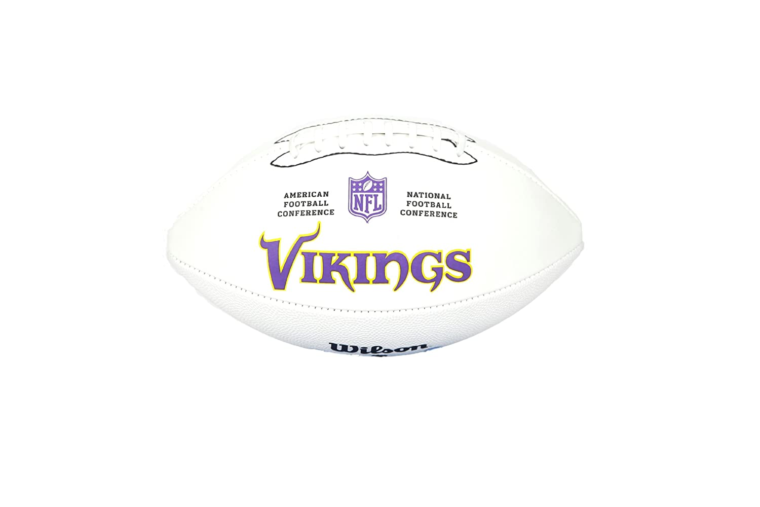 NFL Team Logo Autograph Football Minnesota Vikings