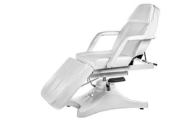 Physa ARTUS Fußpflegestuhl hydraulisch Kosmetikliege weiss Behandlungsliege höhenverstellbar 55-75 cm einzeln bewegliche Bein