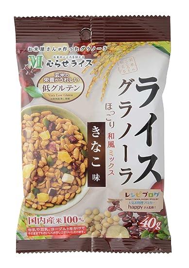 Murase granola arroz bolsas de bolsillo harina de sabor 40gX5