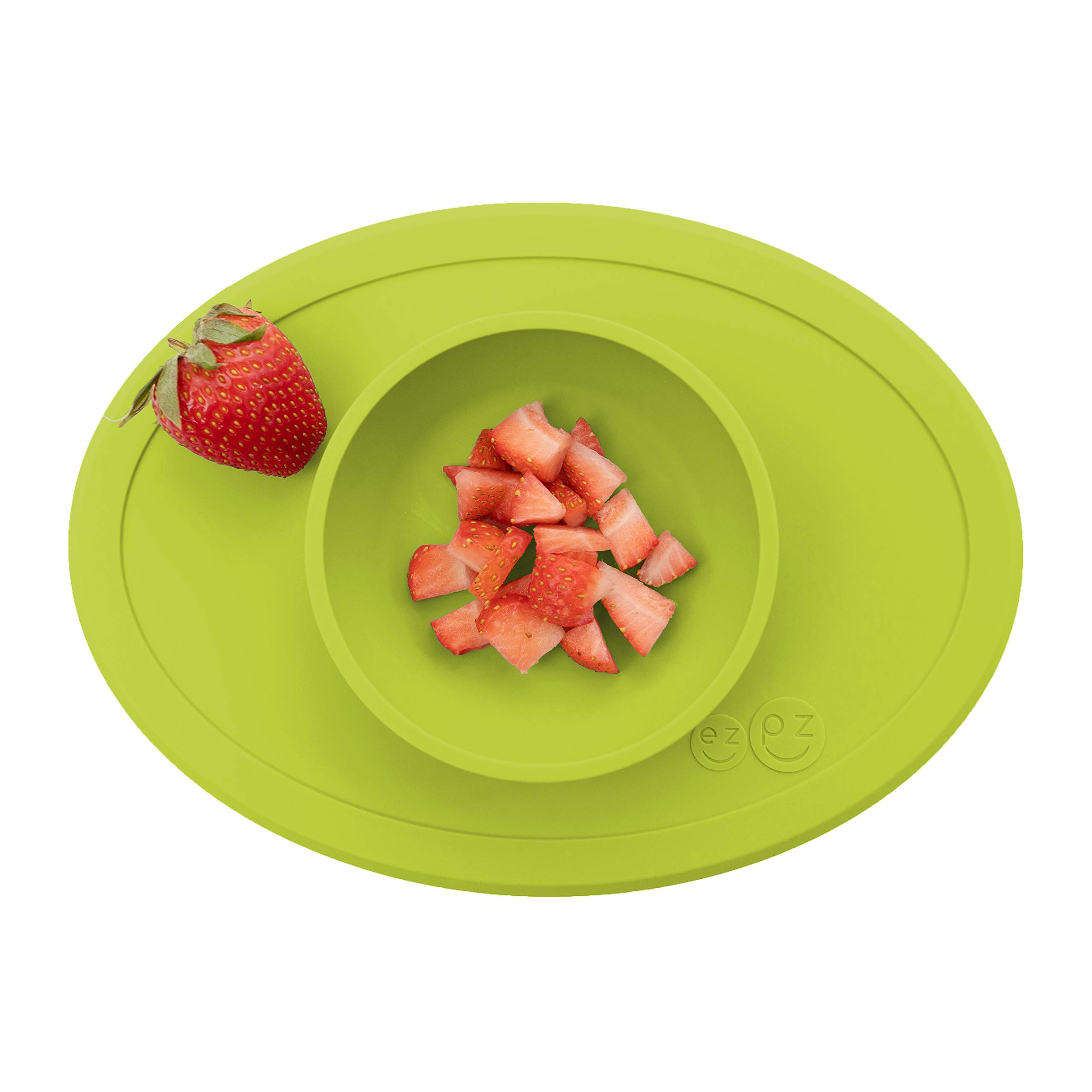 ezpz Tiny Bowl - One-Piece Silicone placemat + Bowl (Lime) by ezpz