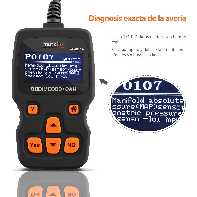 OBD2 con pantalla, TACKLIFE-AOBD2A Escáner Diagnóstico del motor ...