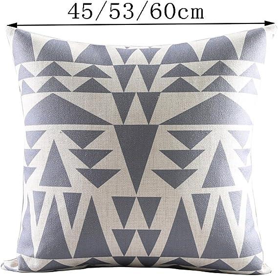 ZJDECR Pink Pillow CushionStriped
